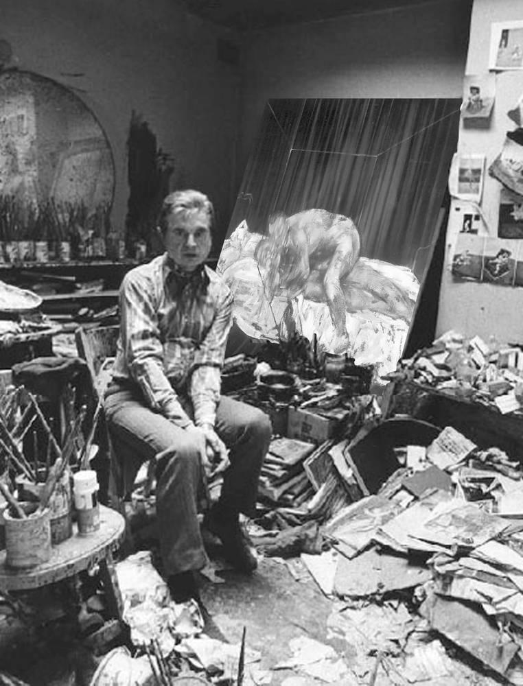 Francis Bacon. 1970s /Michael Holtz /sc